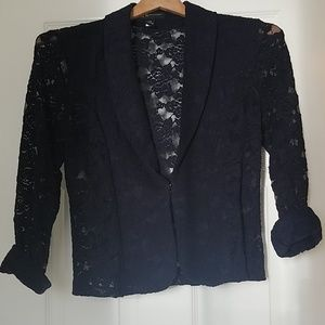 INC International Concepts Illusion Lace Blazer
